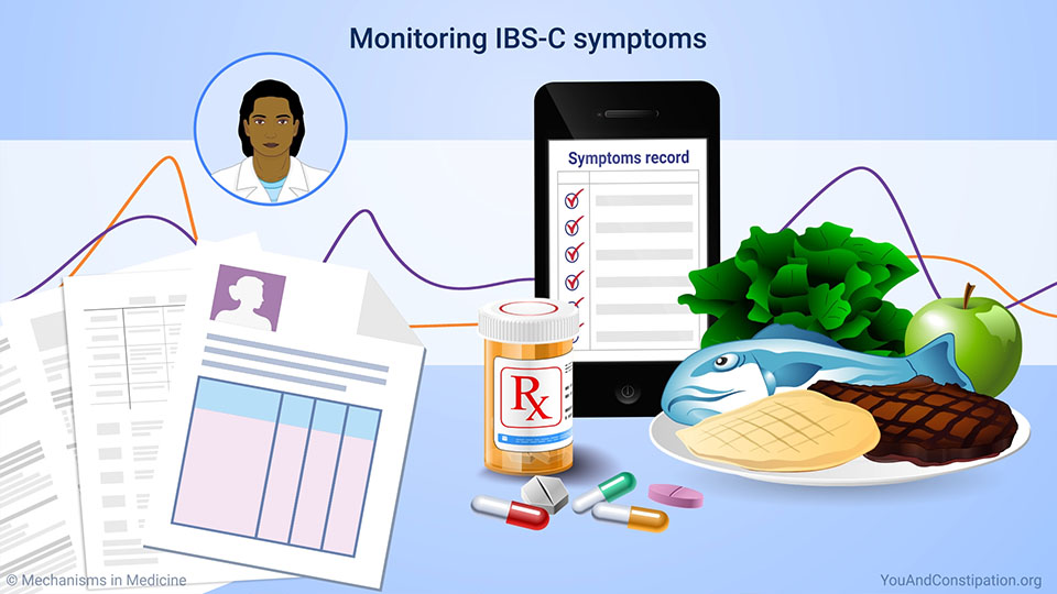 Monitoring IBS-C symptoms