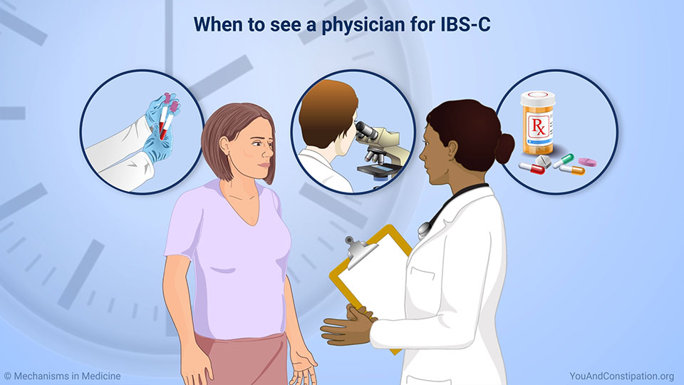 When to see a physician for IBS-C